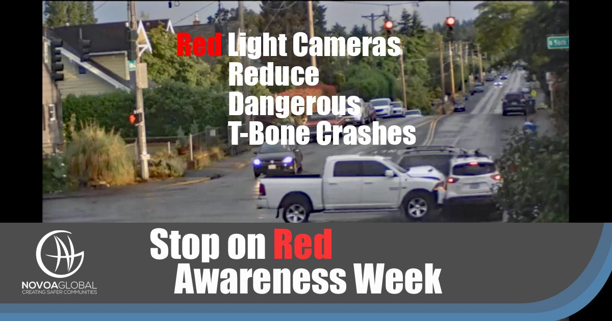 Red Light Cameras Reduce Dangerous T-Bone Crashes with image of crashed cars at intersection