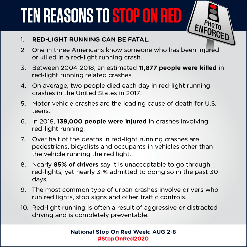 Ten Reasons to Stop On Red and then there is a list