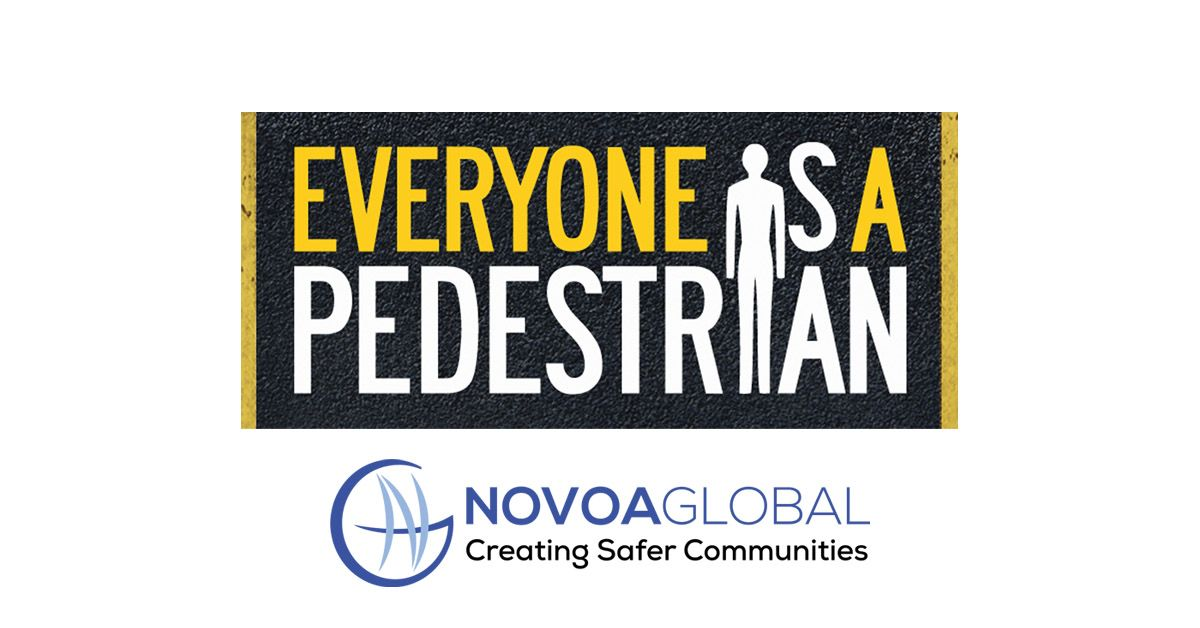 graphic of person and wording that says everyone is a pedestrian