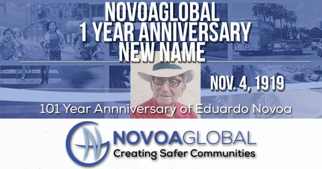 image of man and words novoaglobal 1 year anniversary new name