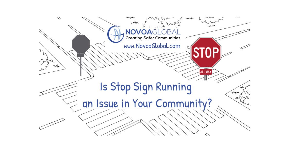 image of intersection with stop sign and the words is stop sign running an issue in your community