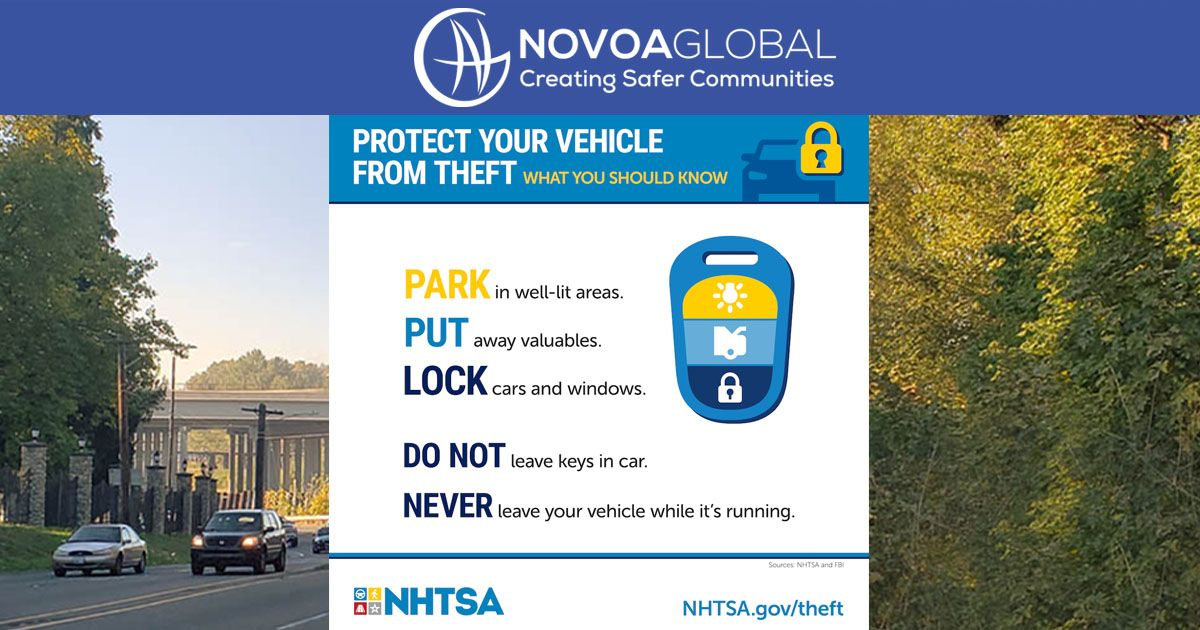 Wording that says protect your vehicle from theft